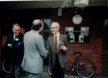 Reg Drinkwater Shakes Hands With Jack Norris
