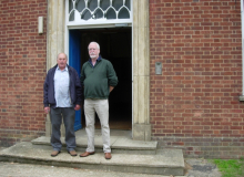 Dixie Dean and John Wells outside Brttain Block just prior to demolition July 2011