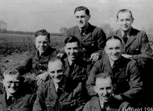 Picture Above Shows  Harry  (Left In The Middle Row) With Accounts  Colleagues At RAF Lichfield In 1941