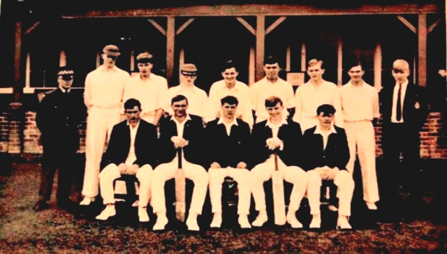 One of two images of the Hereford apprentices cricket team