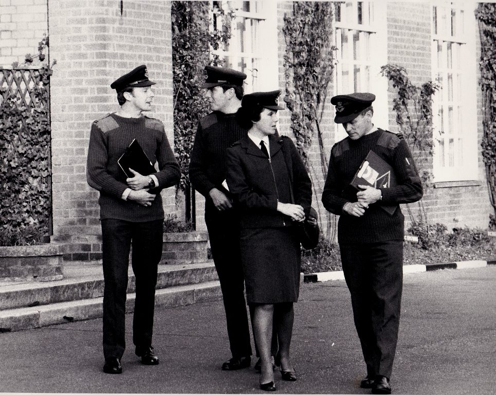 Flt Lt David Browning (Far Right)